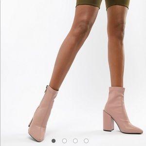 Public Desire blush block heel boots